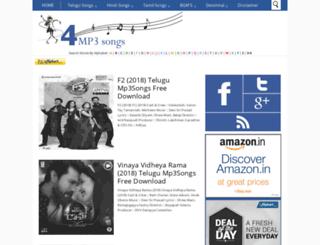 4mp3songs.com screenshot