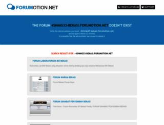 4shmig33-bekasi.forumotion.net screenshot