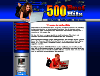 500besthits.com screenshot