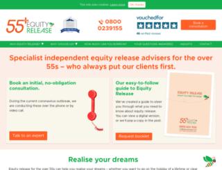 55plusequityrelease.com screenshot