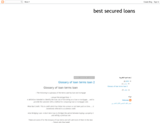 5best-secured-loans.blogspot.com screenshot