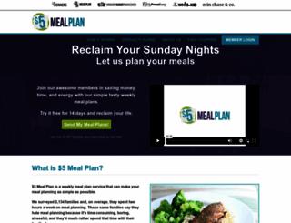 5dollarmealplan.com screenshot