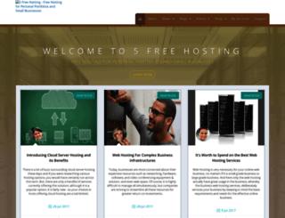 5freehosting.com screenshot