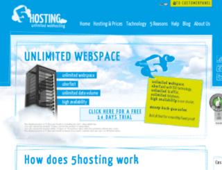 5hosting.com screenshot