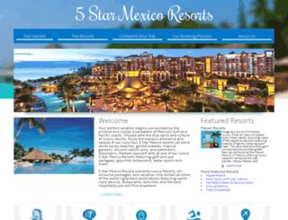 5starmexicoresorts.com screenshot