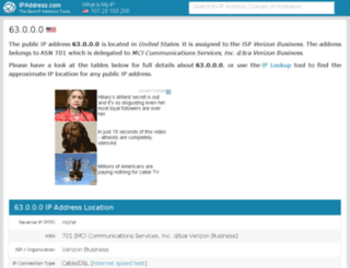 63.ipaddress.com screenshot
