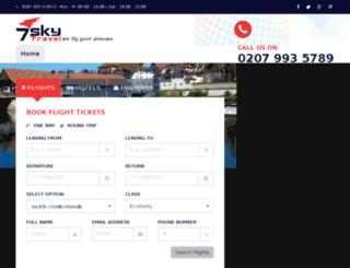 7skytravel.co.uk screenshot