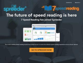 7speedreading.com screenshot