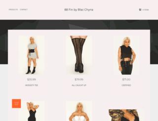88fin.bigcartel.com screenshot