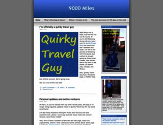 9000miles.wordpress.com screenshot