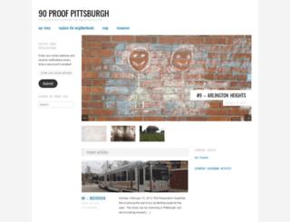 90proofpgh.com screenshot