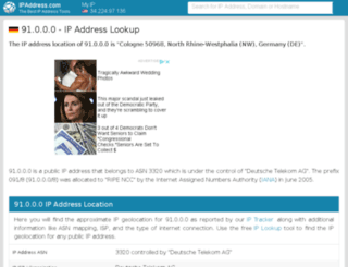 91.ipaddress.com screenshot