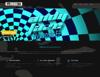 96khz-productions.com screenshot