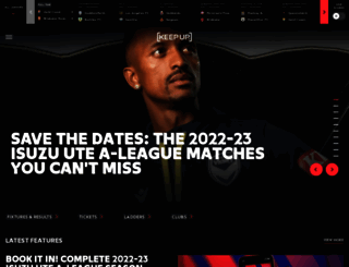 a-league.com.au screenshot