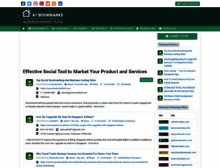 a1bookmarks.com screenshot