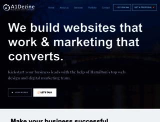a1dezine.com screenshot