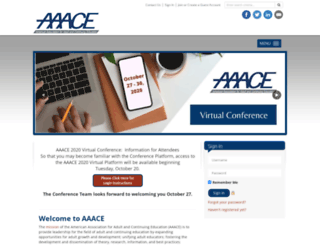 aaace.org screenshot