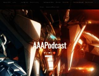 aaapodcast.com screenshot