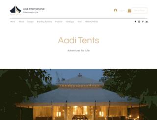 aaditents.com screenshot
