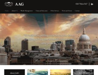 aag.co.uk screenshot