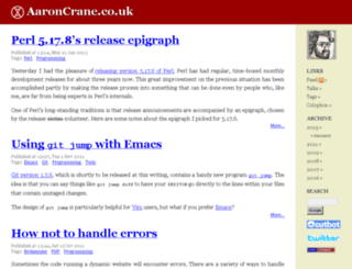 aaroncrane.co.uk screenshot