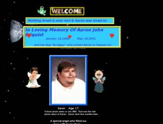 aaronedquistmemorial.com screenshot