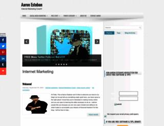 aaronestebancoaching.blogspot.com screenshot