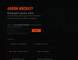 aaronhockley.com screenshot