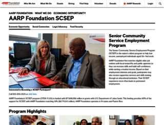 aarpworksearch.org screenshot
