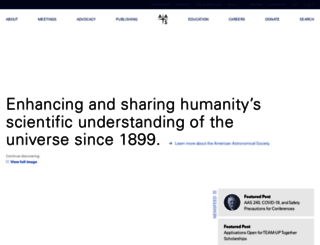 aas.org screenshot