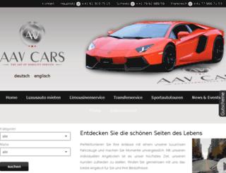 aav-cars.ch screenshot