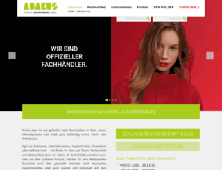 abakus-werbeartikel.de screenshot