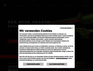 abarth.de screenshot