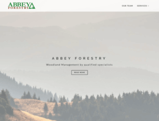 abbeyforestry.co.uk screenshot