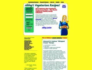 abbeysvegetarianrecipes.com screenshot