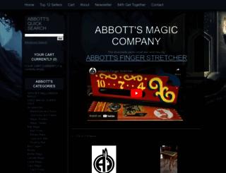 abbottmagic.com screenshot