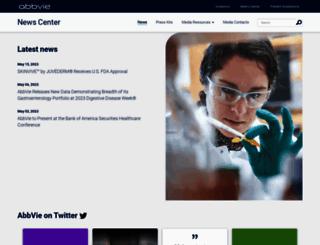 abbvie.mediaroom.com screenshot