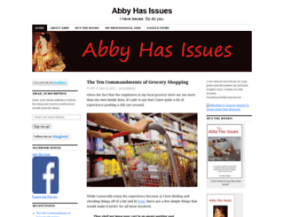 abbyhasissues.com screenshot