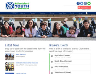 abbyyouth.com screenshot