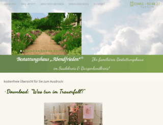 abendfrieden.com screenshot