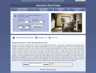 aberdeen-md-realestate.com screenshot