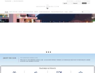 aberdeenmarinaclub.com screenshot