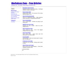 abesukses.com screenshot