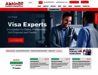 abhinav.com screenshot