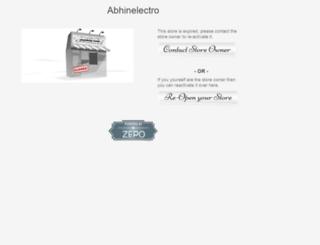 abhinelectro.zepo.in screenshot