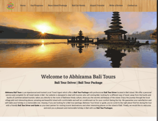 abhiramabalitours.com screenshot
