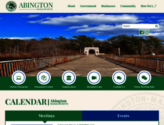 abingtonma.gov screenshot