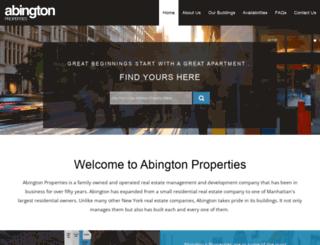 abingtonproperties.com screenshot