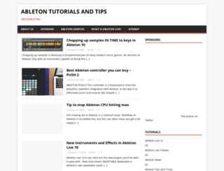 able2ableton.com screenshot