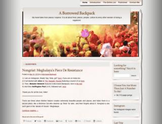 aborrowedbackpack.wordpress.com screenshot
